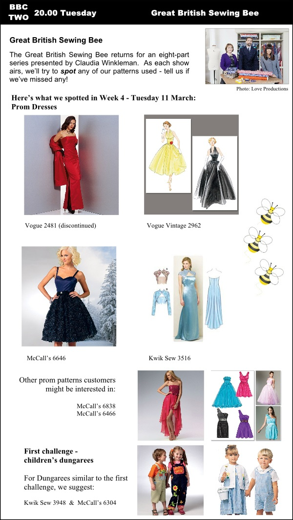 The Great British Sewing Bee Patterns | GUR - The Sewing Lounge