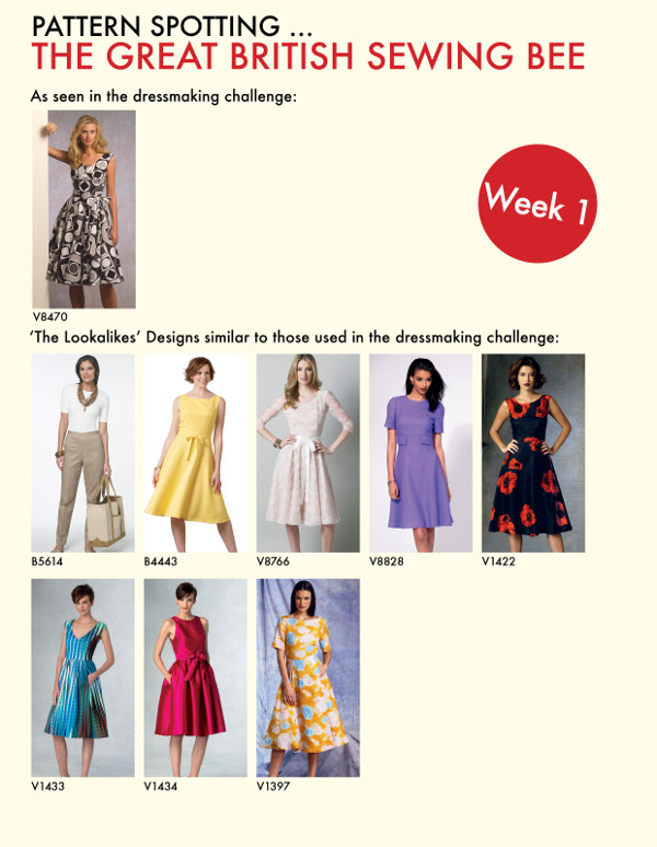 Sewing Bee Patterns – Week One | GUR - The Sewing Lounge