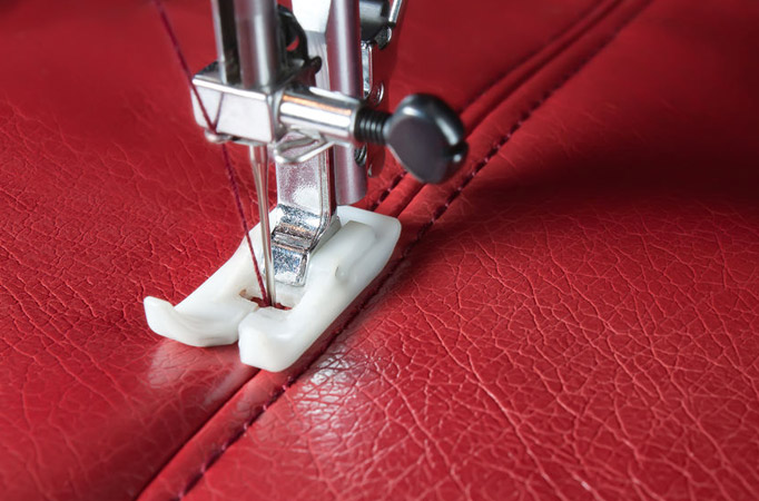 Tutorial how to sew leather on a home sewing machine