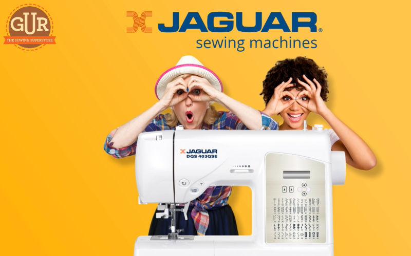 This is how easy it is to thread a Jaguar sewing machine