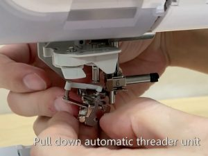 Brother sewing machine maintenance how to replace the needle threader