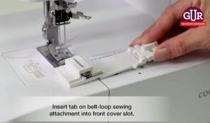 The Brother Coverstitch Belt Loop Guide from GUR Sewing Machines