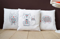 Haberdashery Embroidery Cushion Kits