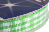 Haberdashery Gingham Ribbon 9mm