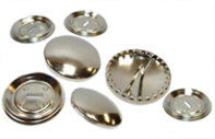 Haberdashery Self Cover Buttons Metal