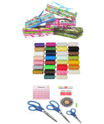 Quilt Fabrics & Sewing Thread Pack