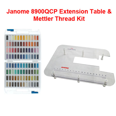 Janome 8900QCP Extension Table & Mettler Thread Kit