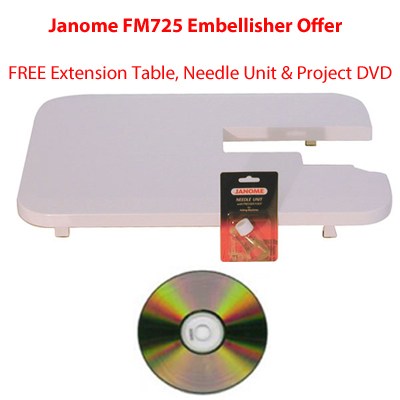 Extension Table Needle Unit & Project DVD
