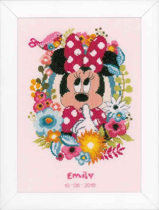 Vervaco Counted Cross Stitch Kit: Minnie - Shushing Characters CSK