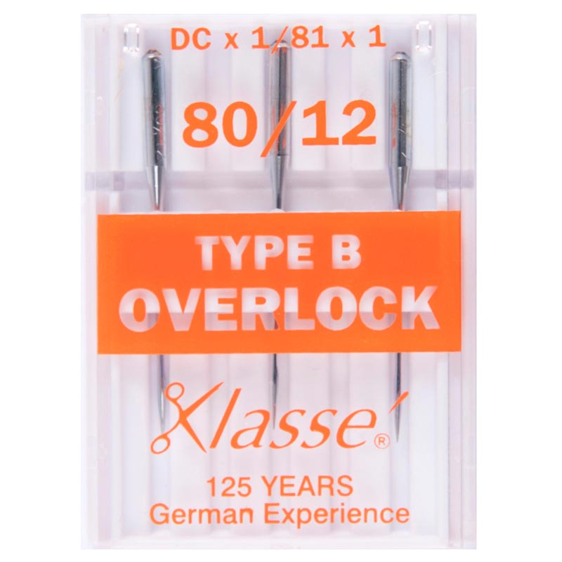 Klasse Overlocker Needles: Type B: 3 Pieces
