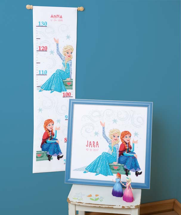Vervaco Counted Cross Stitch Kit: Frozen - Sisters Forever Characters CSK