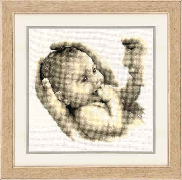 Counted Cross Stitch Kit: Fathers Cuddle Birth & Babies CSK