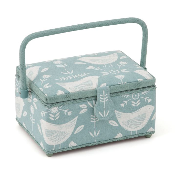 HobbyGift HGM_548 | Sewing Box (M) | Duck Egg Birds