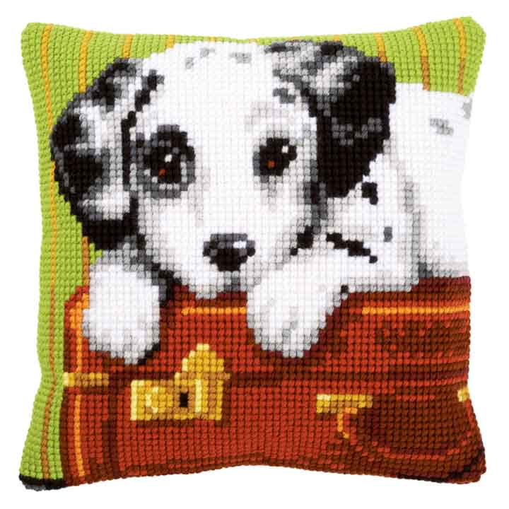Vervaco Cross Stitch Cushion: Dalmatian Cats & Dogs CSCK