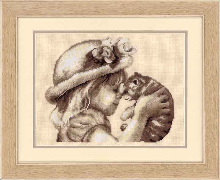 Vervaco Counted Cross Stitch Kit: I Love You Kitty Characters CSK