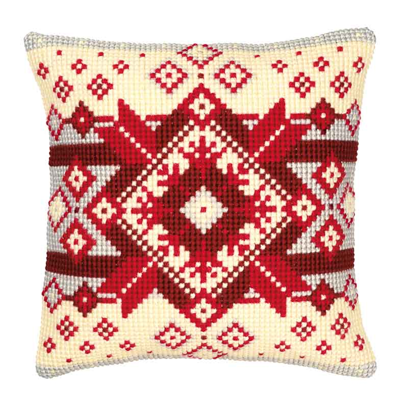 Vervaco Cross Stitch Cushion Kit: Geometric Patterns CSCK