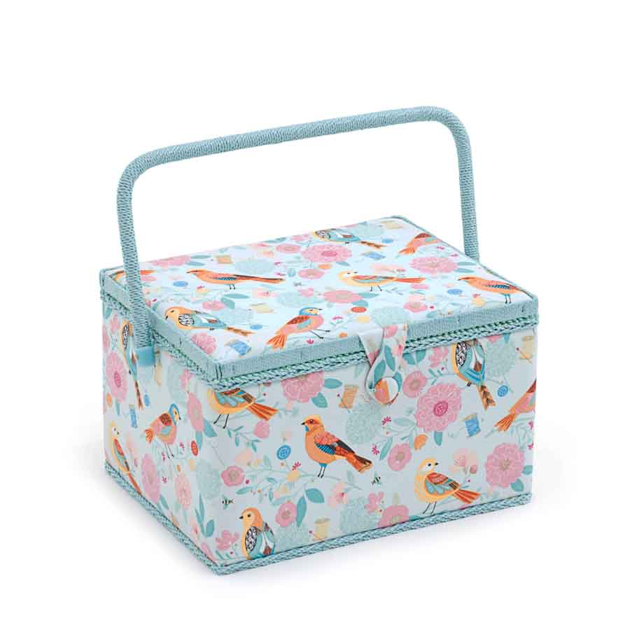 HobbyGift Sewing Box (L): Rectangle: Birdsong | MRL_275