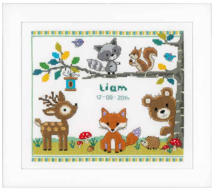 Counted Cross Stitch Kit: Forest Animals I
