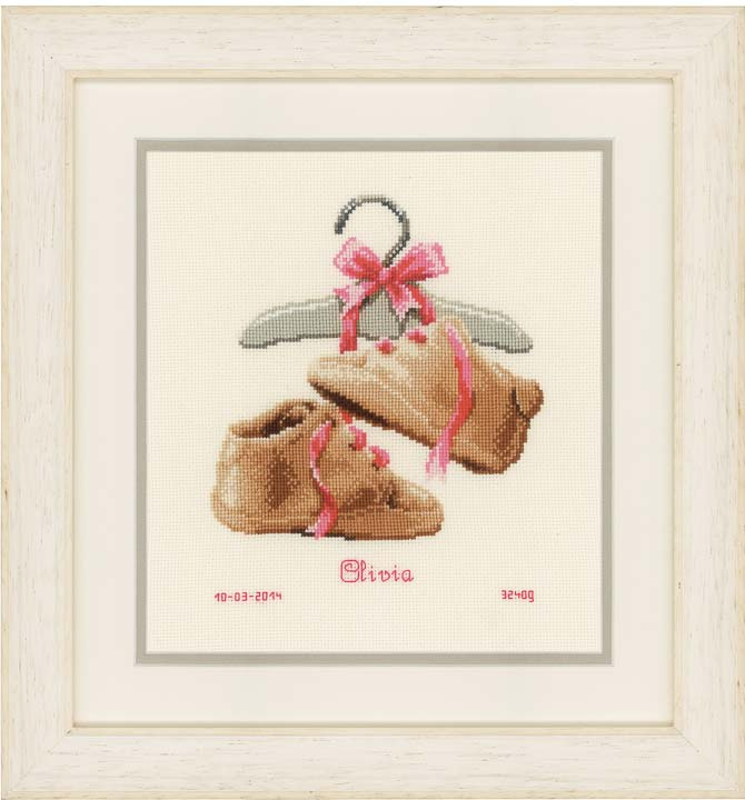 Counted Cross Stitch: My First Shoes Birth & Babies CSK