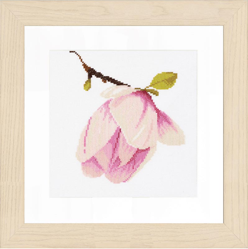 Lanarte Counted Cross Stitch Kit: Magnolia Bud (Evenweave)