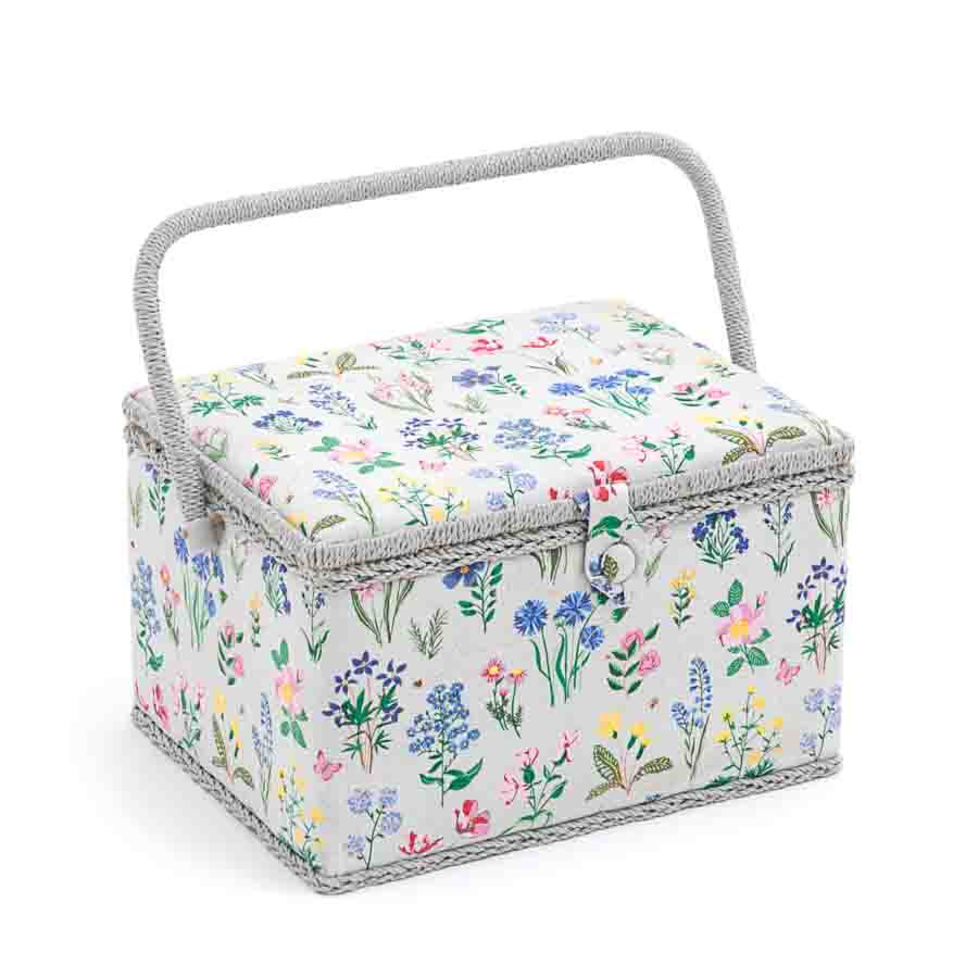 HobbyGift Sewing Box (L): Rectangle: Spring Garden | MRL_272 Tree Print Sewing Box
