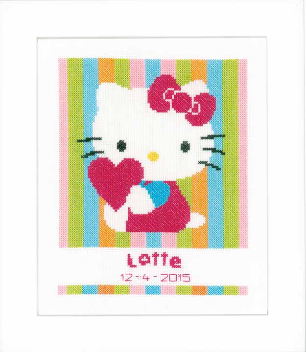 Vervaco Counted Cross Stitch Kit: Hello Kitty Striped Characters CSK