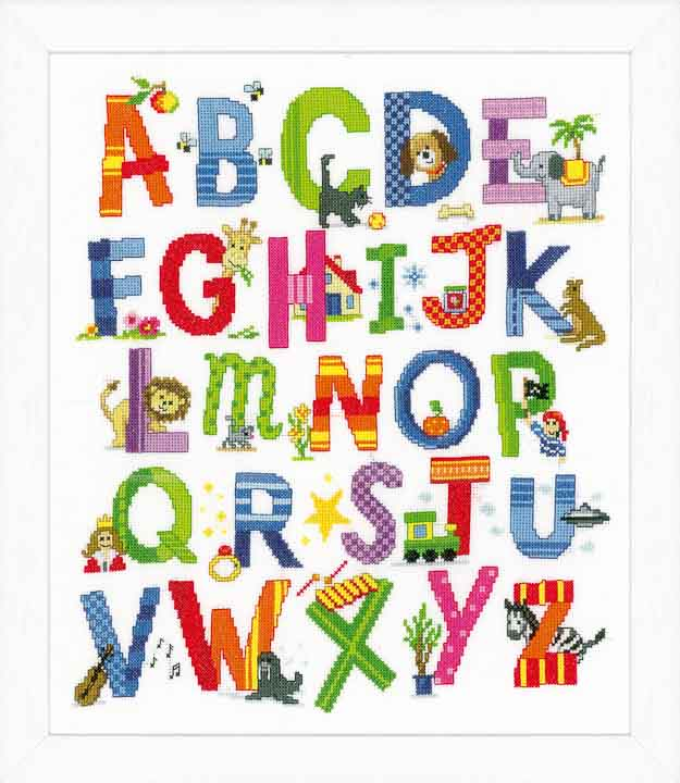 Vervaco Counted Cross Stitch Kit: Animal Alphabet Characters CSK