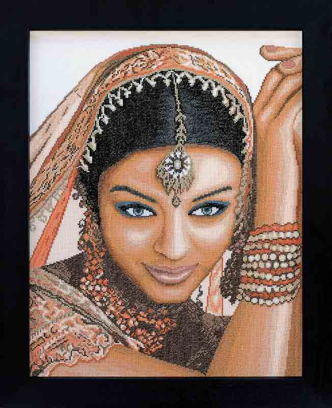 Lanarte Counted Cross Stitch Kit: Indian Model (Aida,W)