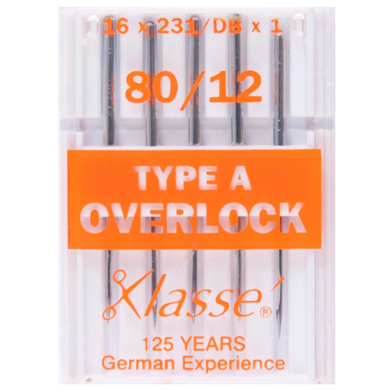 Klasse Overlocker Needles: Type A: 5 Pieces