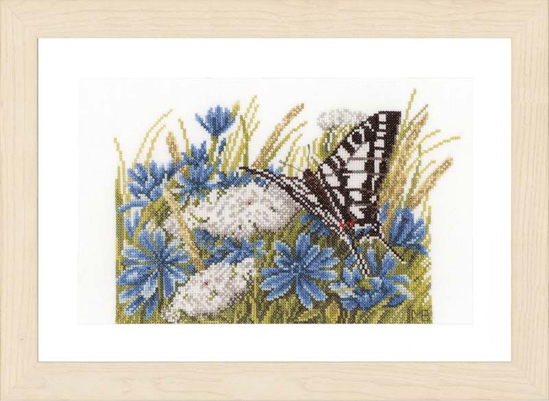 Lanarte Counted Cross Stitch Kit: Swallowtail (Evenweave)
