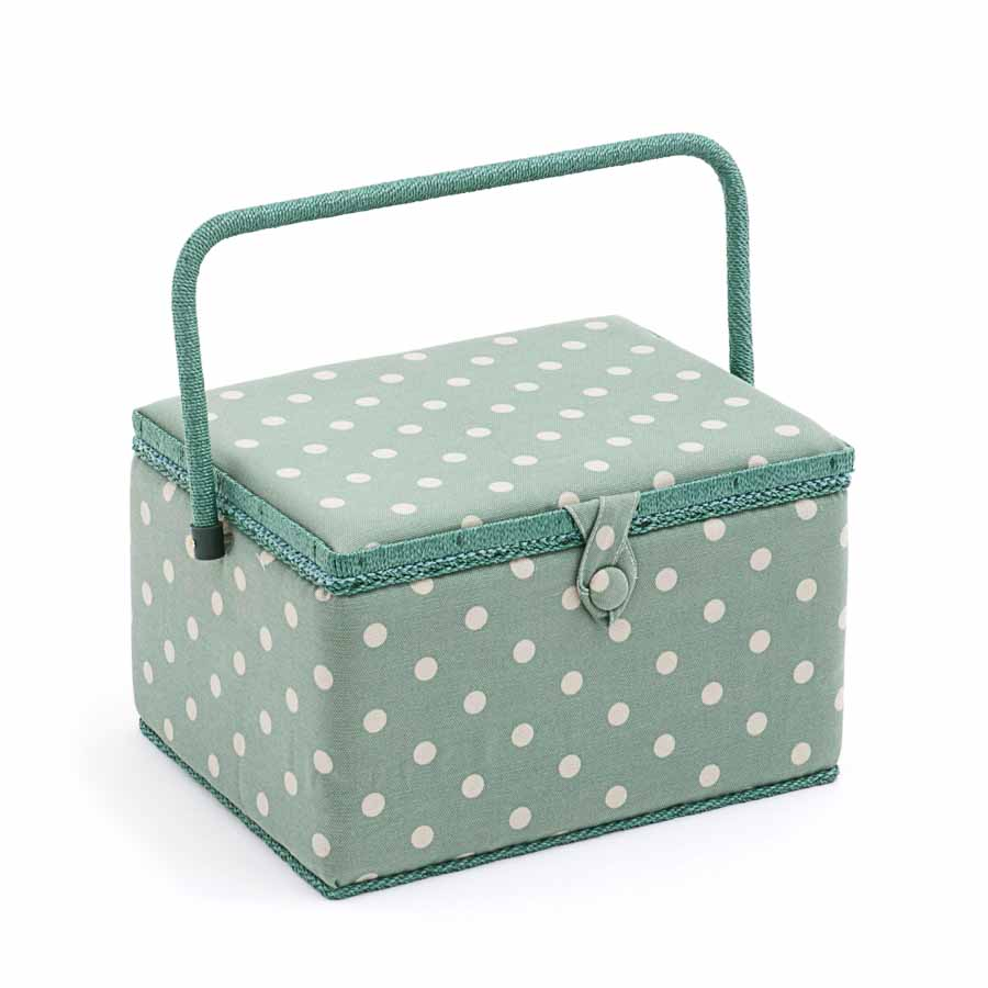 HobbyGift MRL_264 | Sewing Box (L) | Rectangle | Moss Polka Dot