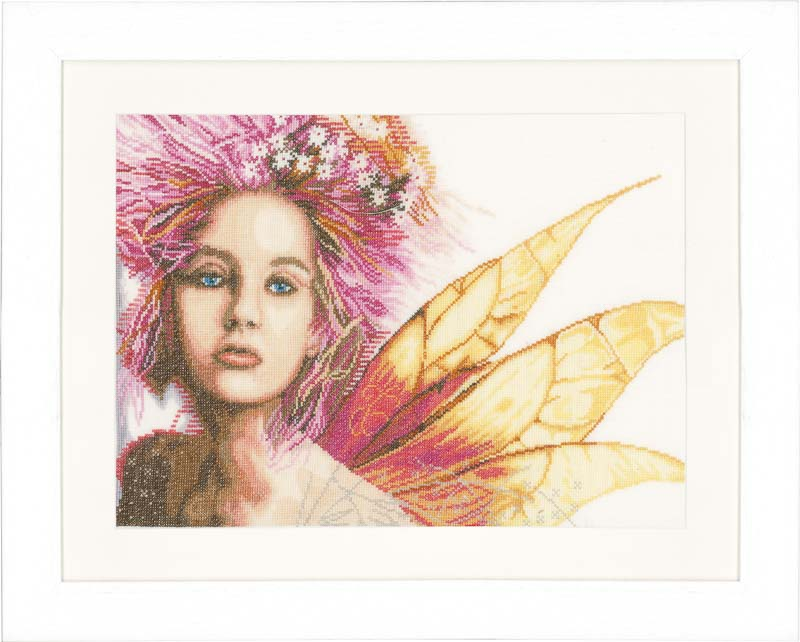 Lanarte Counted Cross Stitch Kit: Fairy (Linen) Faith & Celestial CSK