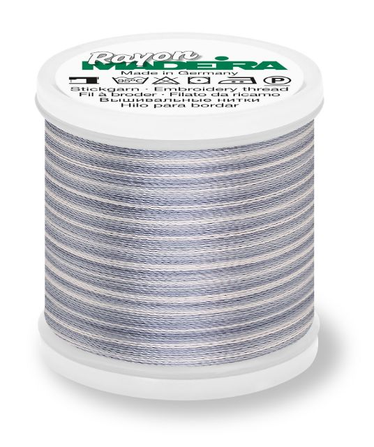 Madeira 9840_2017 | Rayon Multicolor Embroidery Thread 200m | Ombre/Grey/Silvers