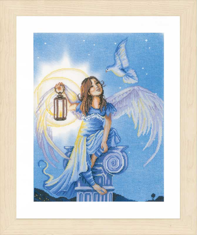 Lanarte Counted Cross Stitch Kit: Angel in the Night