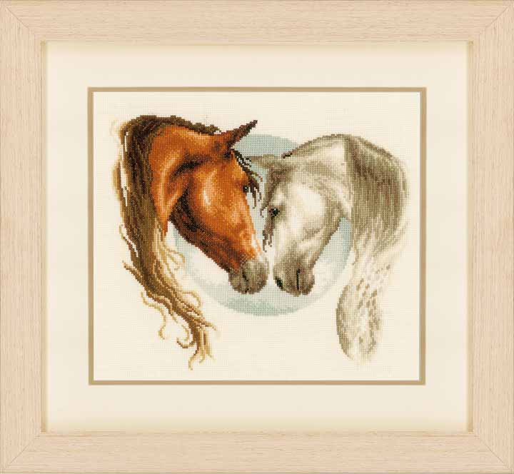 Counted Cross Stitch Kit - Horse Duo