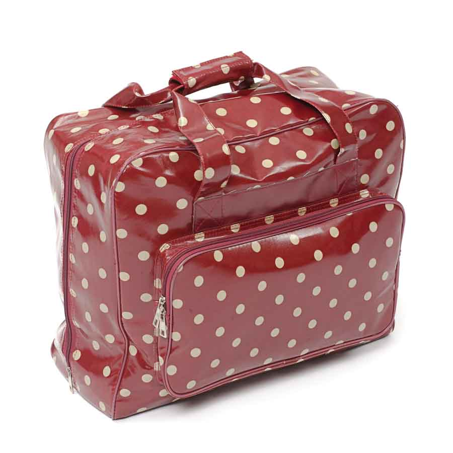 HobbyGift Sewing Machine Bag: PVC: Red Spot | MRB.003