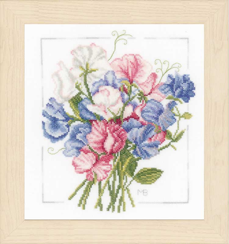 Lanarte Counted Cross Stitch Kit - Colourful Bouquet