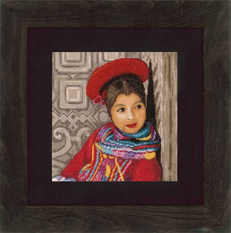 Lanarte Counted Cross Stitch Kit: Peruvian Girl (Evenweave) Beauty & Love CSK