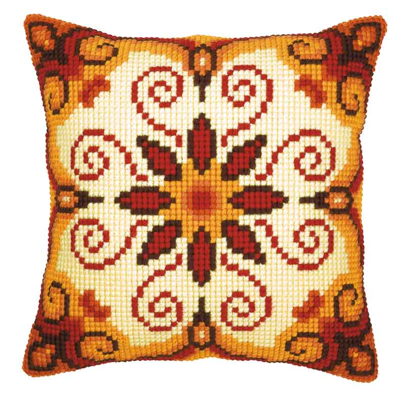 Vervaco Cross Stitch Cushion Kit: Harmony Patterns CSCK