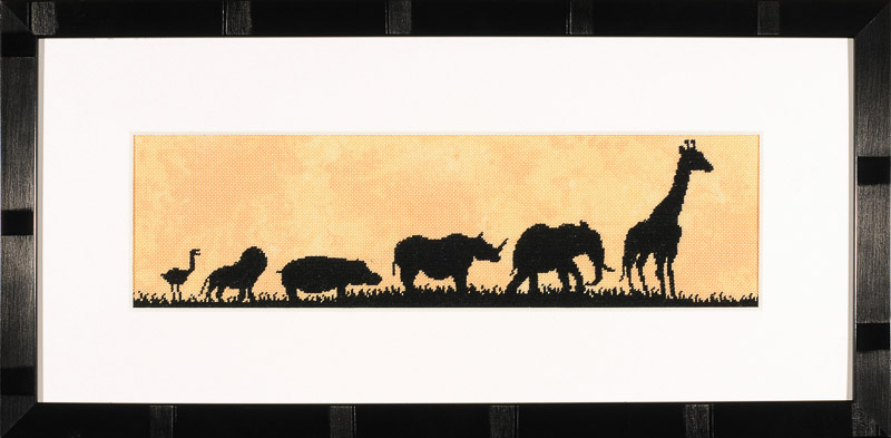 Lanarte Counted Cross Stitch Kit: Parade of Wild Animals (Evenweave)