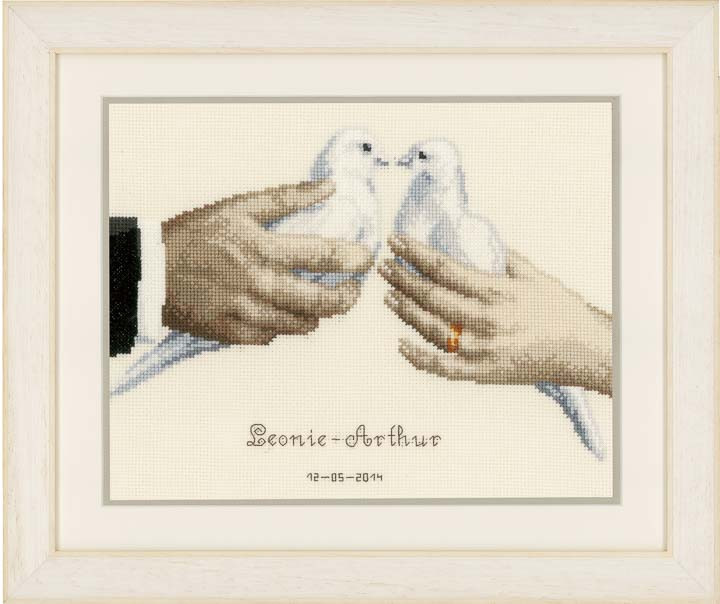 Counted Cross Stitch: Wedding Doves