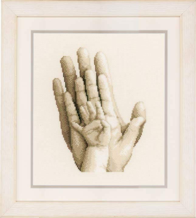 Counted Cross Stitch Kit: Hands Beauty & Love CSK