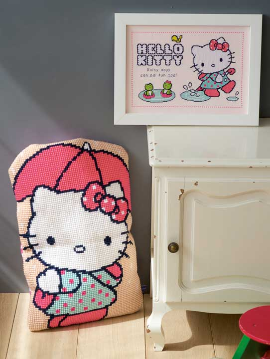 Vervaco Counted Cross Stitch Kit: Hello Kitty: Rainy days Characters CSK
