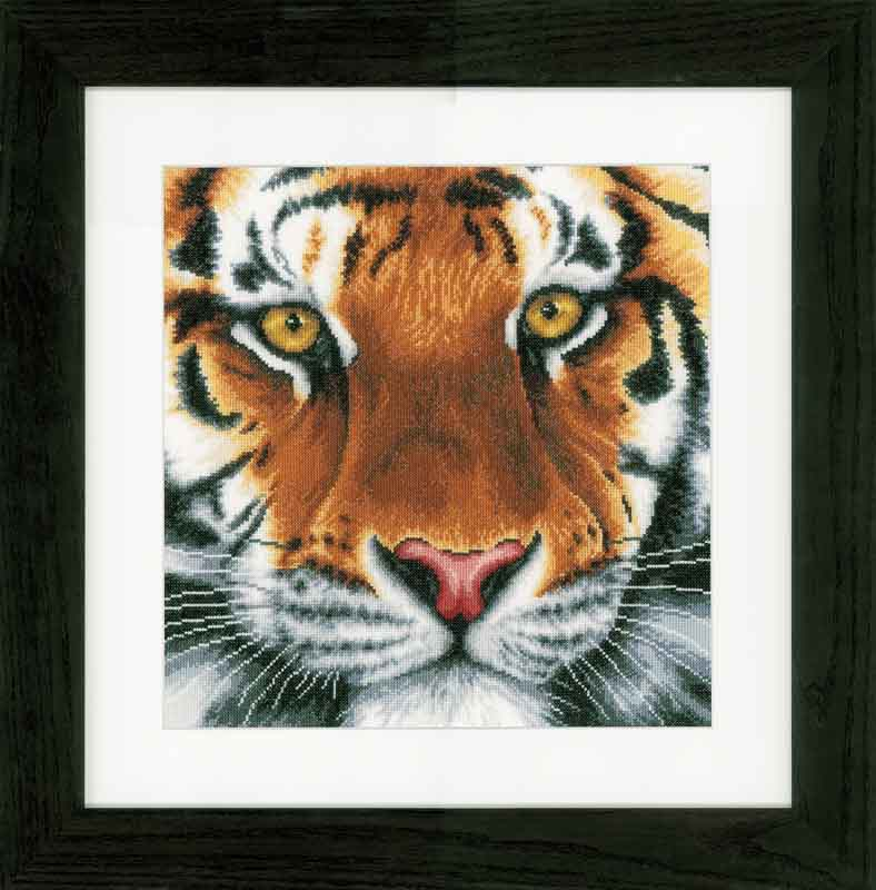 Lanarte Counted Cross Stitch Kit: Tiger (Aida)