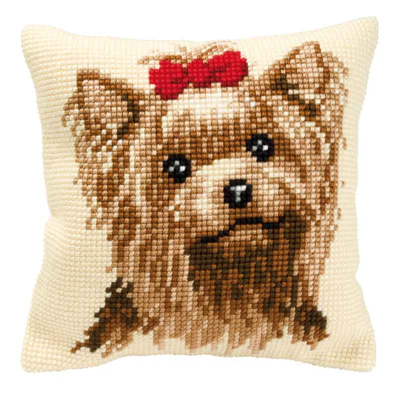 Vervaco Cross Stitch Cushion Kit: Yorkshire Terrier