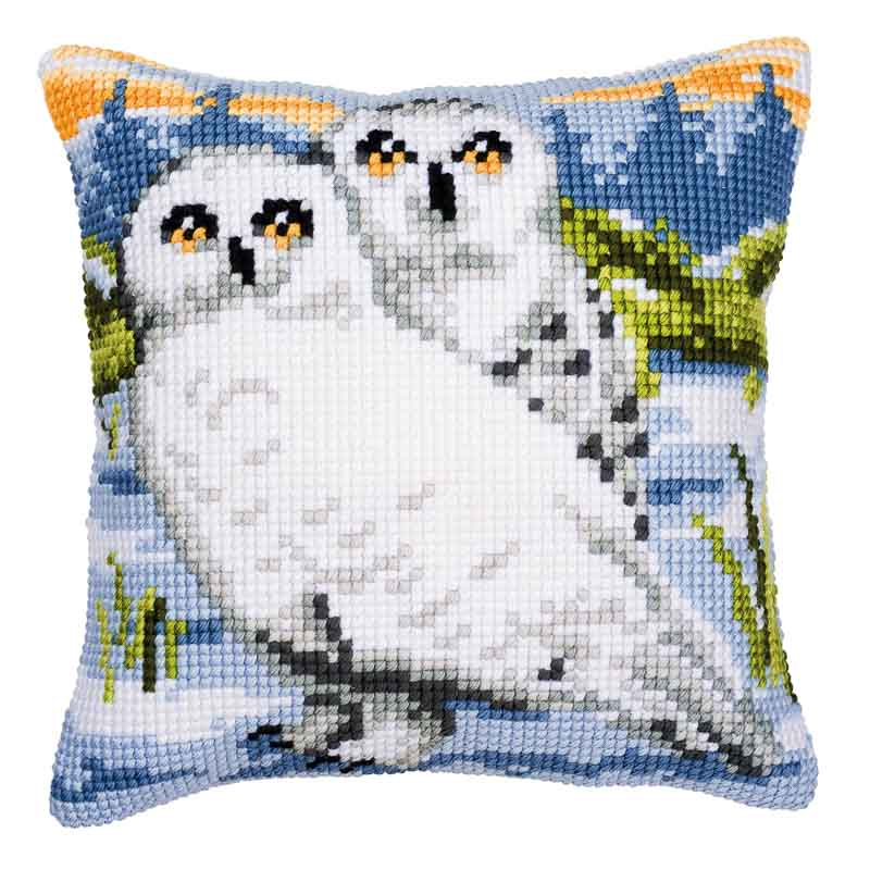 Vervaco Cross Stitch Cushion Kit: Snowy Owl Animals & Birds CSCK