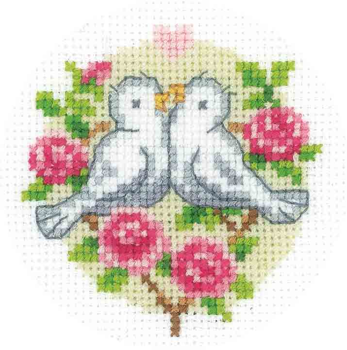 Vervaco Embroidery Kit: Tablecloth: Apple Blossom Runners and Tablecloth