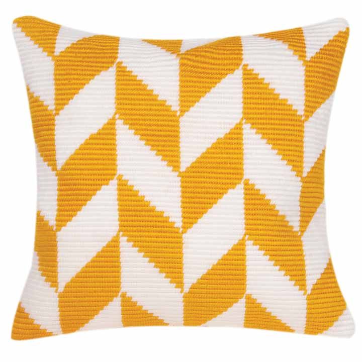 Vervaco Angled Clamping Stitch Cushion Kit: Herringbone Pattern CSCK Angled Clamping Stitch Cushion Kit