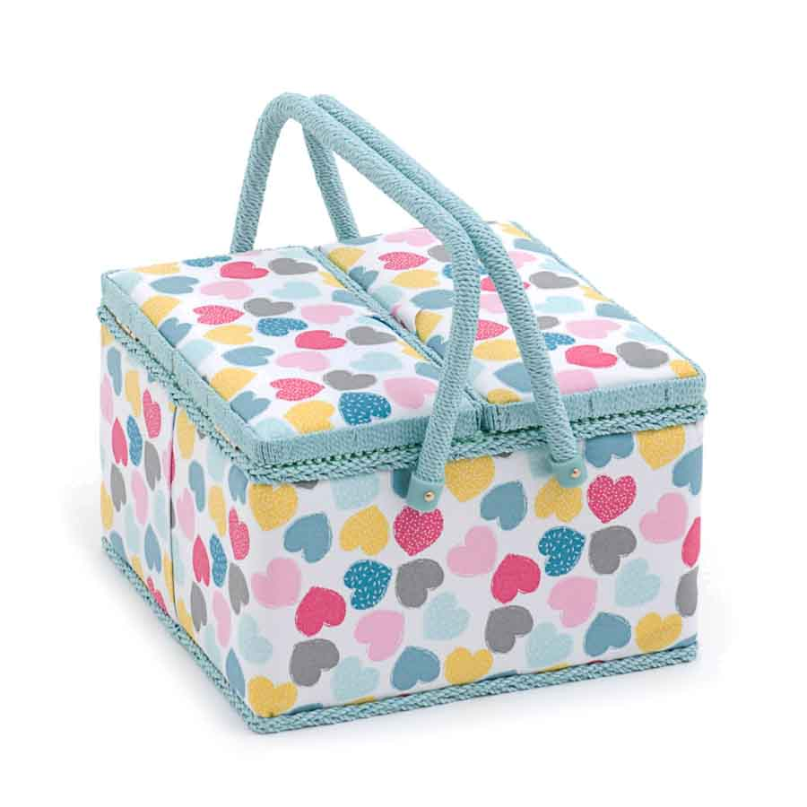 HobbyGift MRLTLE_276 | Sewing Box (L) Twin Lid Square | Love