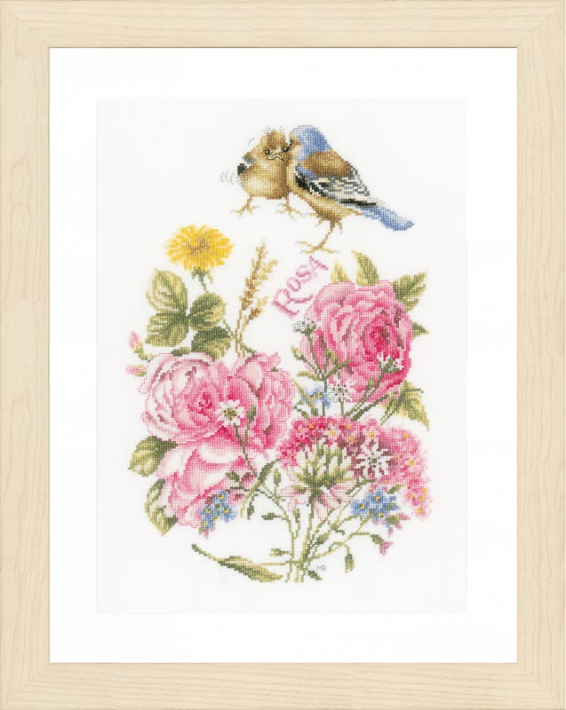 Lanarte Counted Cross Stitch Kit: Finches: (Aida)